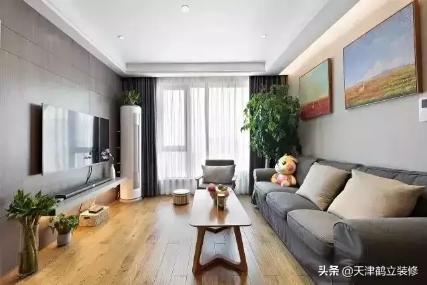 100㎡的房子,怎样装修花钱少又装的好,装什么风格呢?天津鹤立装修案例参考!