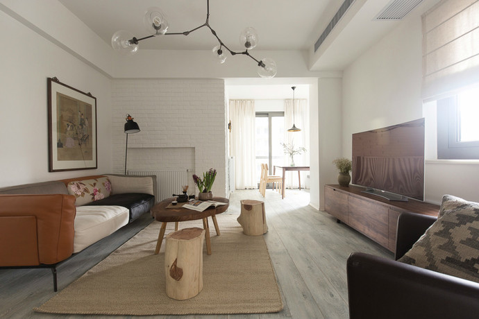 天津鹤立装修案例——自然风格公寓效果图