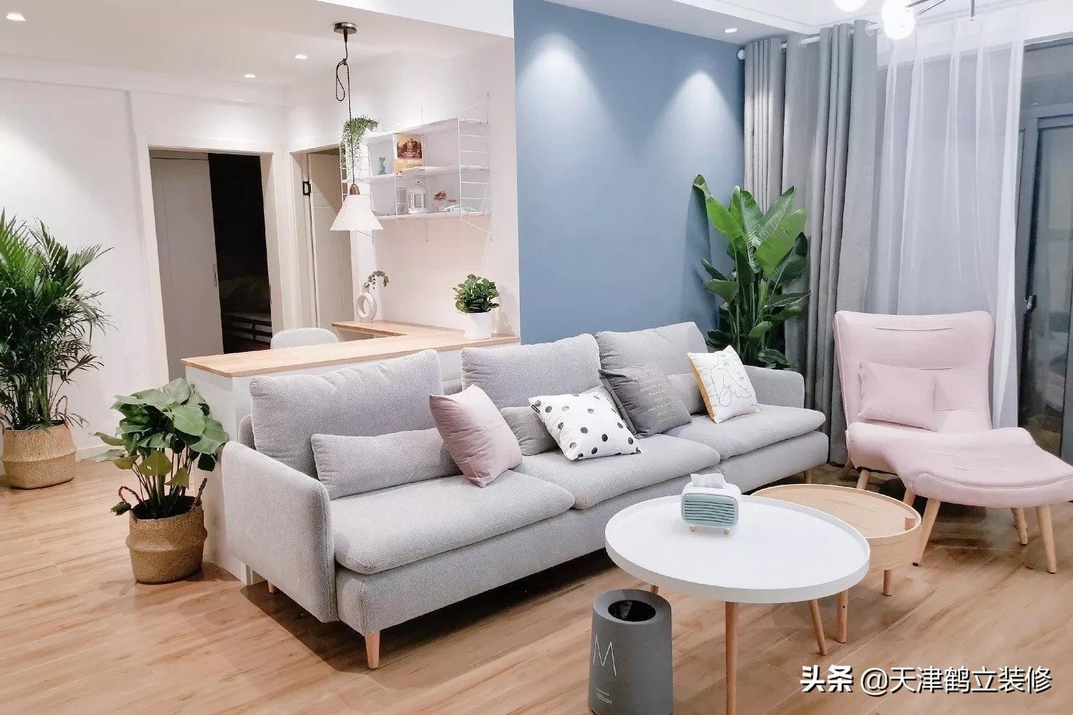 天津鹤立装修——三室新房毕业照。不挑户型的北欧风来了