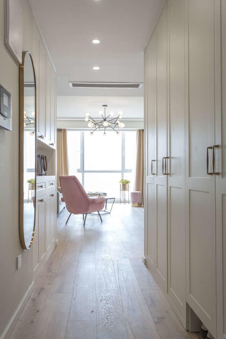 天津鹤立装修案例——130平高级柔美的北欧风格新房